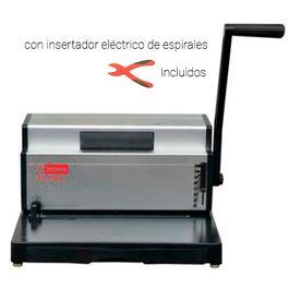 Encuadernador manual con insertador eléctrico de espirales Intimus